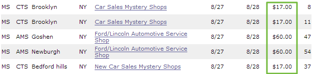 mystery shopping assignments